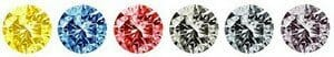 Diamond's 5Cs - Fancy Color Range - Different colors of diamonds - fancy color diamonds like yellow, blue, red