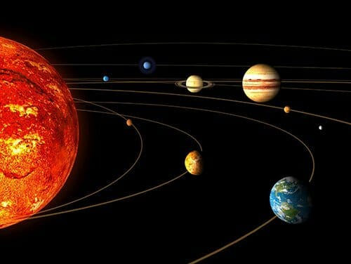 Image of Solar System - Planets affects us base on Vedic astrology