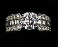 2.51 carats Platinum Ring vBGI