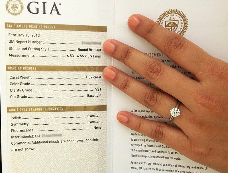 How to choose a diamond ring? - GIA certificate copy & engagement ring which satisfies 95% of my 'expat' or 'tourist' clients.
