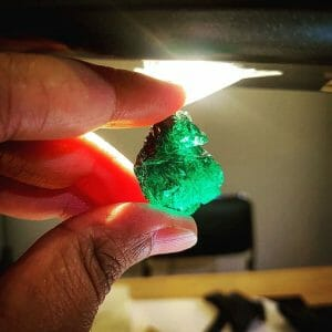 Emerald Ethically Sourced - Emerald Rough from Gemfields Zambia Kagem Mine.